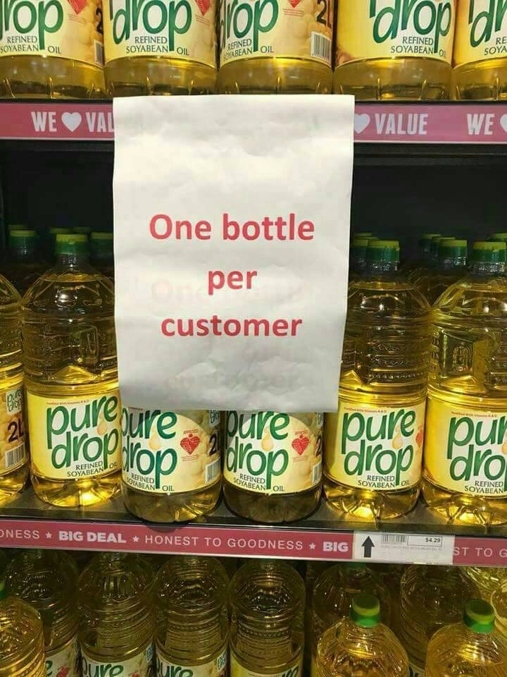 COOKING OIL SHORTAGES CRISIS