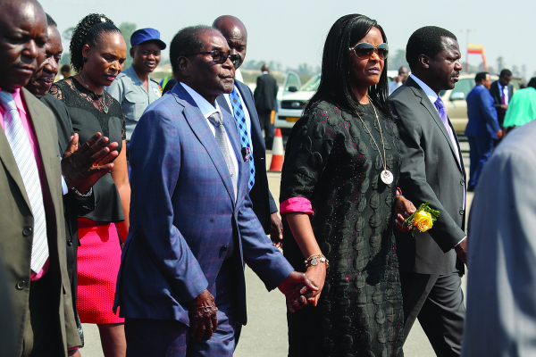 President Robert And First Lady Grace Mugabe Arrives From