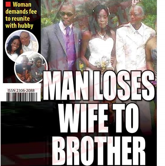 MAN LOSES WIFE TO BROTHER