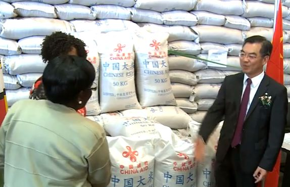 CHINESE RICE BRIBE FOR POTENTIAL VOTERS