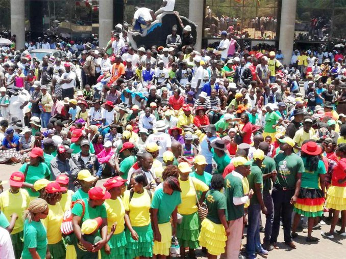PRESIDENT MUGABE DELIVERS STATE OF THE PARTY SPEECH