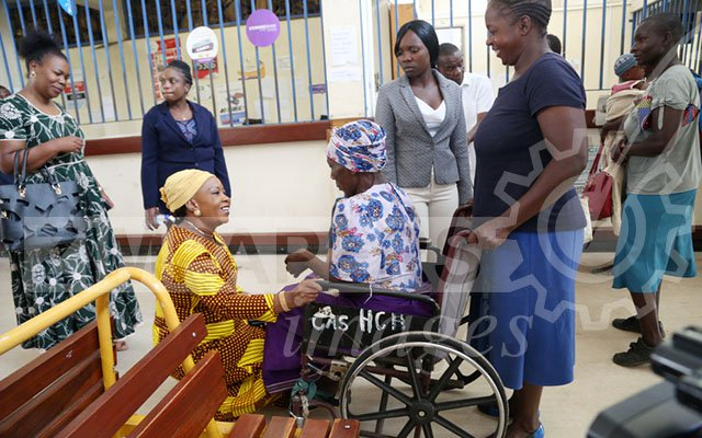 FIRST LADY PAYS PUBLIC HOSPITAL SURPRISE VISIT