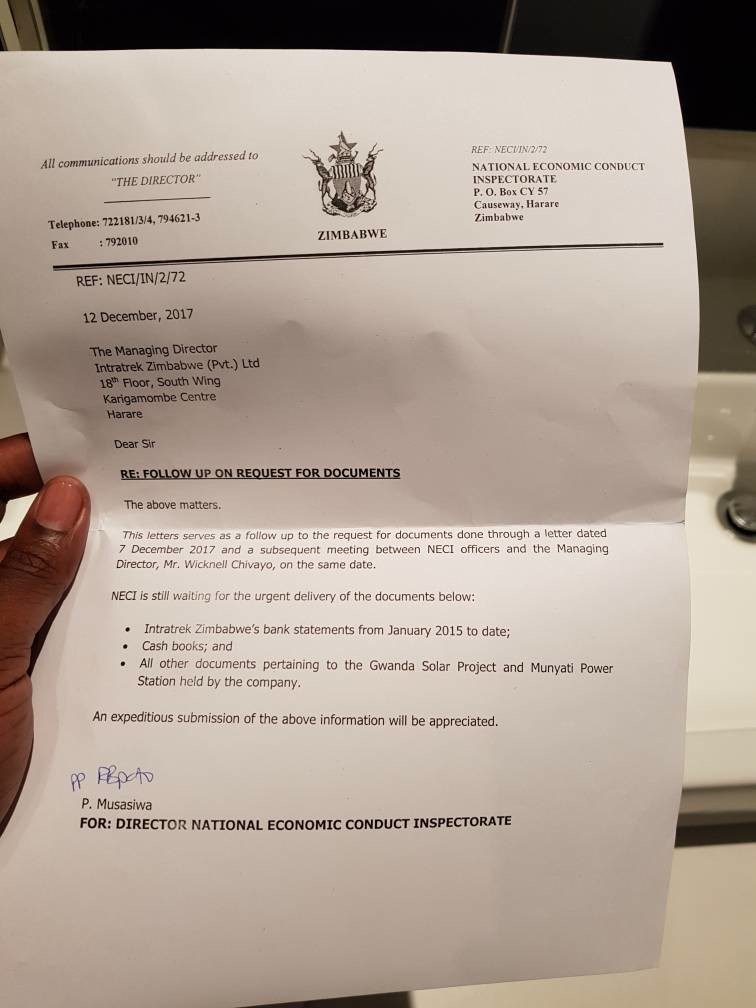 SIR WICKNELL'S COMPANY IS UNDER INVESTIGATION