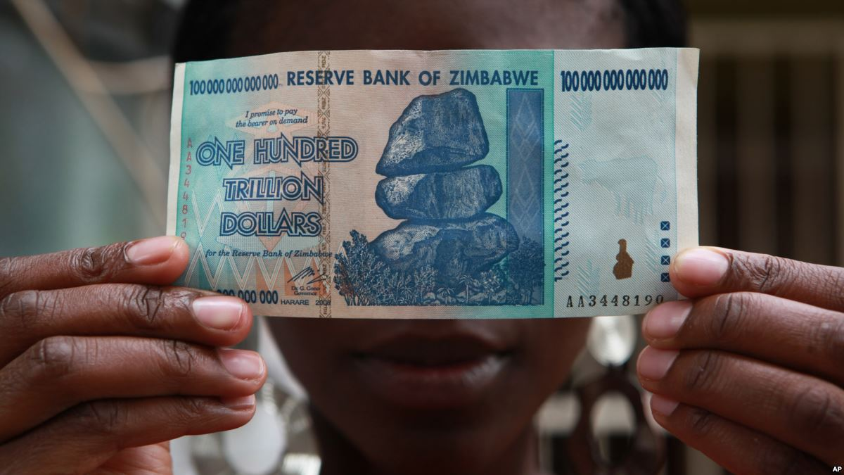 MAN ARRESTED FOR STEALING ZIM'S ONE HUNDRED TRILLION DOLLAR NOTE