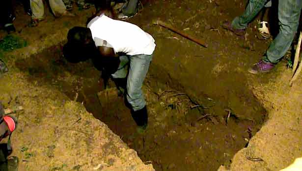 Man digs up niece's corpse to make 'bumper harvest' juju