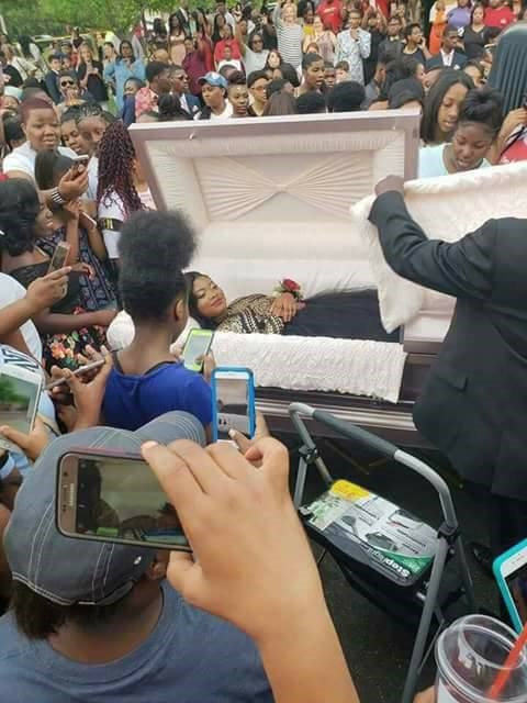 Social Media Explodes As Slay Queen Arrives For Leavers Dance In Coffin