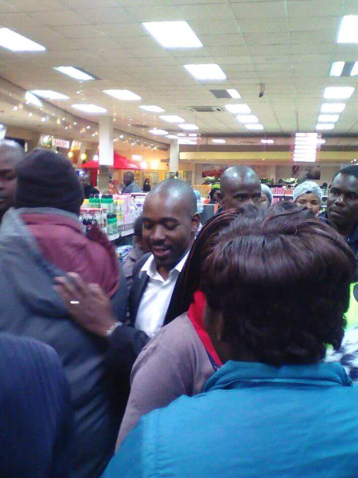 Chamisa Brings Shoppers To A Halt