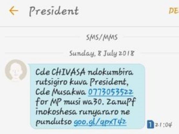 BREAKING : Voter's Details Leaked To Zanu Pf