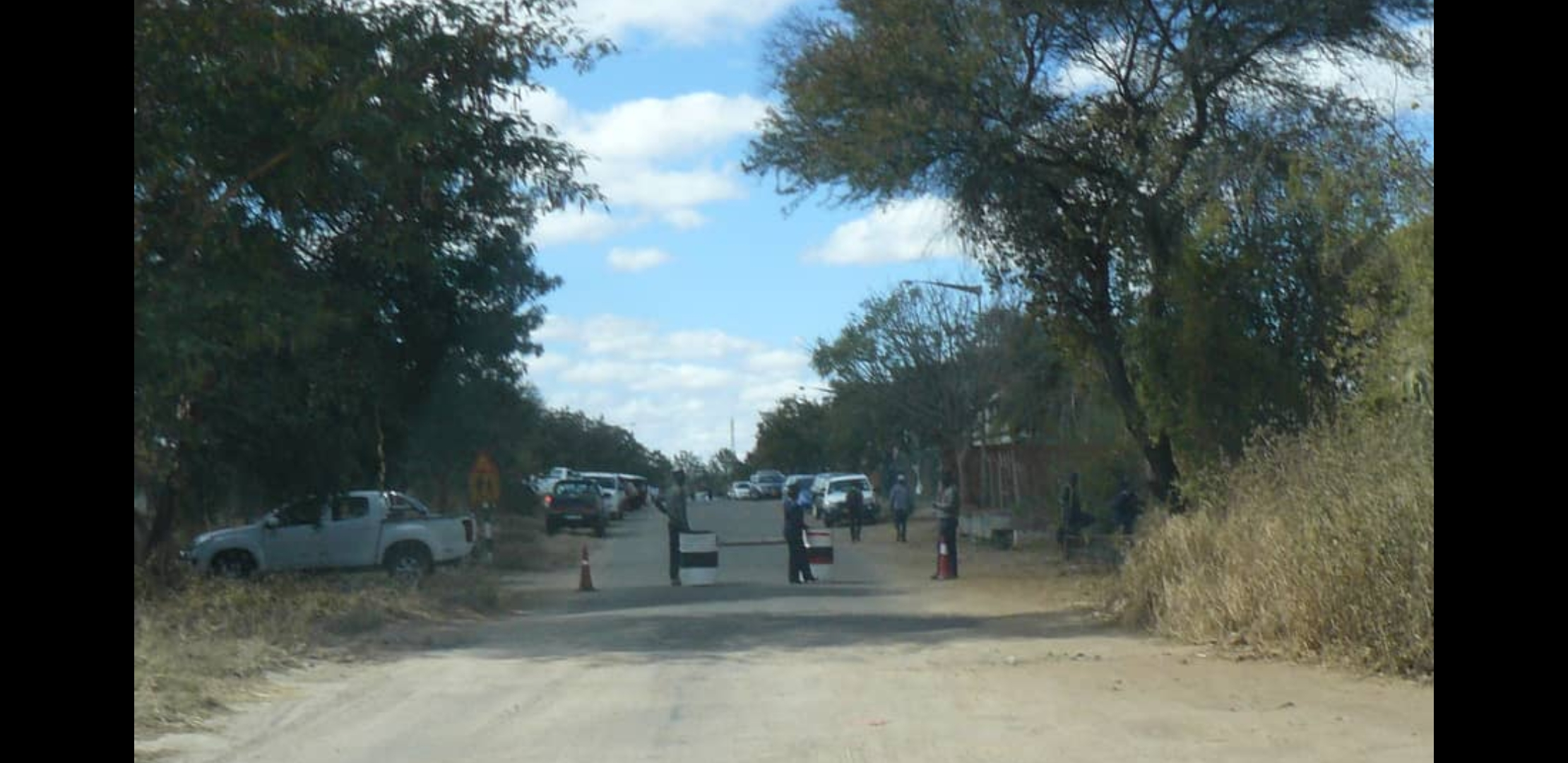 Police Block Street leading to Chigumba's Offices In Skies