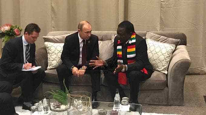 Image result for mnangagwa meets putin
