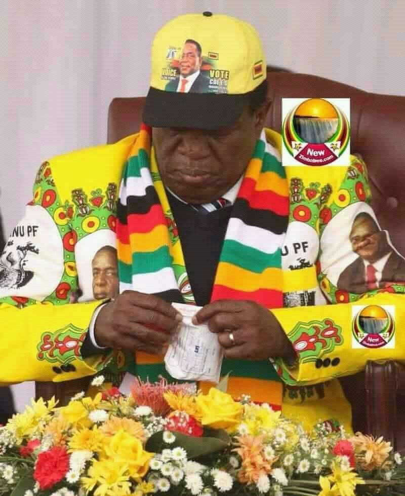 Is President SICK??! Mnangagwa Captured Taking Medication In Public
