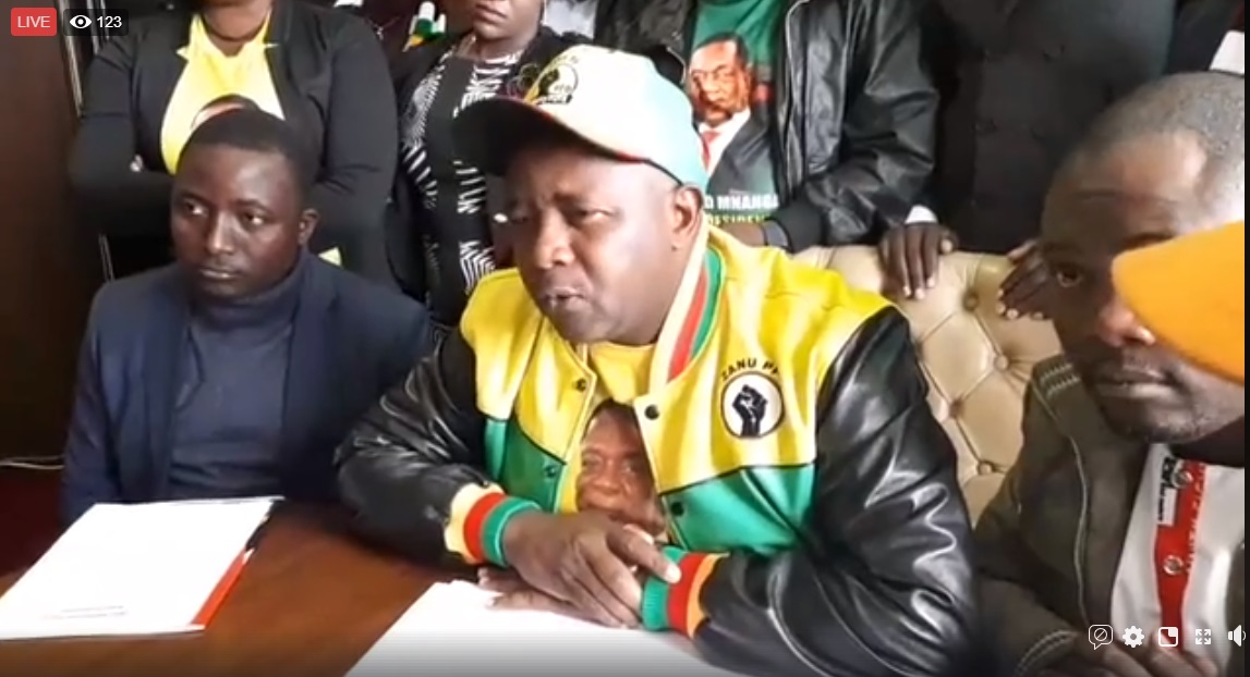 Zanu PF Youth League Boss(54) Threatens To Drag Chamisa, Biti To Court Over Sanctions