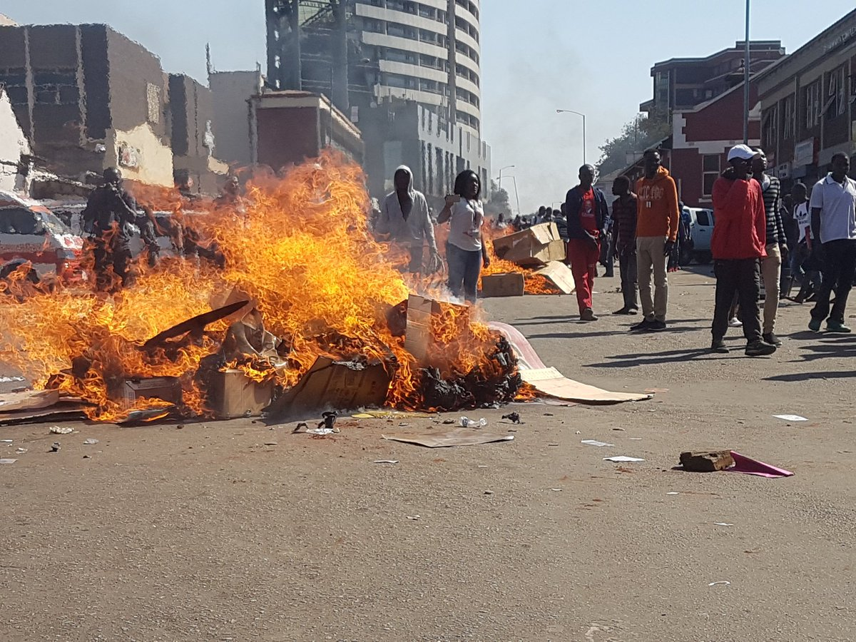 Zim violent protests took Mnangagwa by surprise