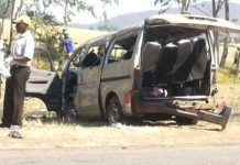 KOMBI CRASHES, FIVE DIE