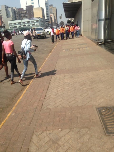 Vendors cleared off the streets