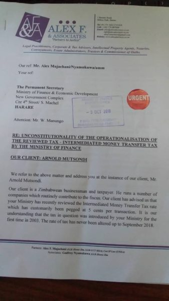 Businessman Challenges Finance Minister Mthuli Ncube Over New Mobile Tax Tariff
