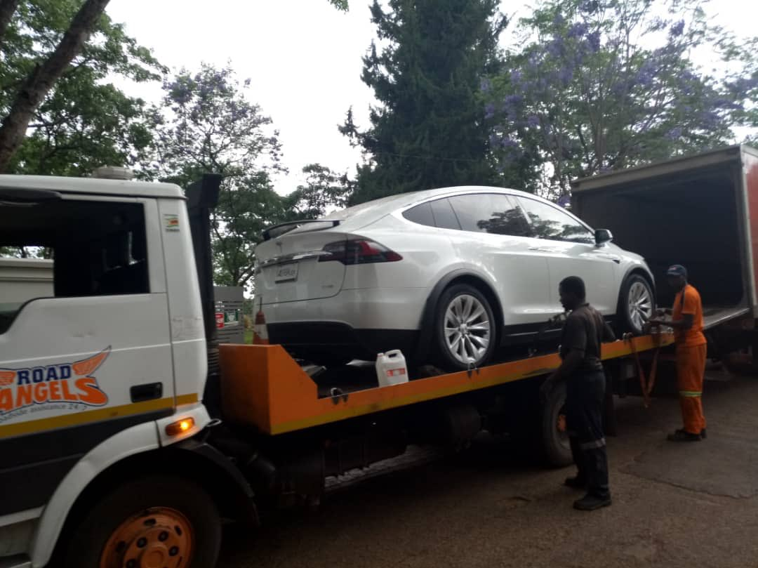 FUEL CRISIS.....Man Unveils First Tesla Electric Vehicle In Zim