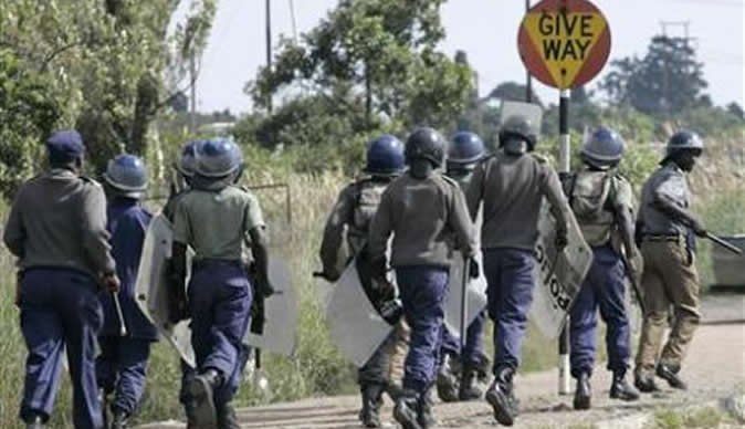 Four Jailed For Burning Police Station During #ShutdownZimbabwe Protests Four people who took part in the #ShutdownZimbabwe protests early this month were on Friday jailed for a combined five years behind bars by a Mbare Magistrate. Johannes Sigauke (42) of Zone 1, Hopley Farm, was jailed for three years for stealing a sola