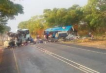 FATAL CRUSH : BUSES INVOLVED IN AHEAD ON COLLISION