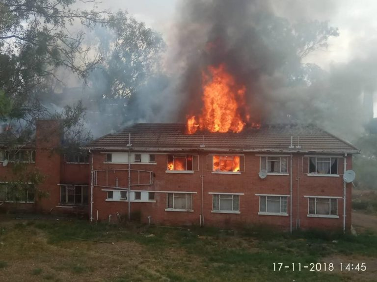 Fire Guts Mpilo Hospital