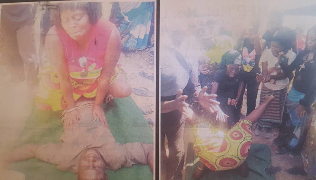Chaos At Hooker's Burial As Workmates Show Off