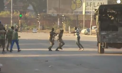 """""""MDC Supporters Beating Up Defenseless Soldiers On August 1"""""""