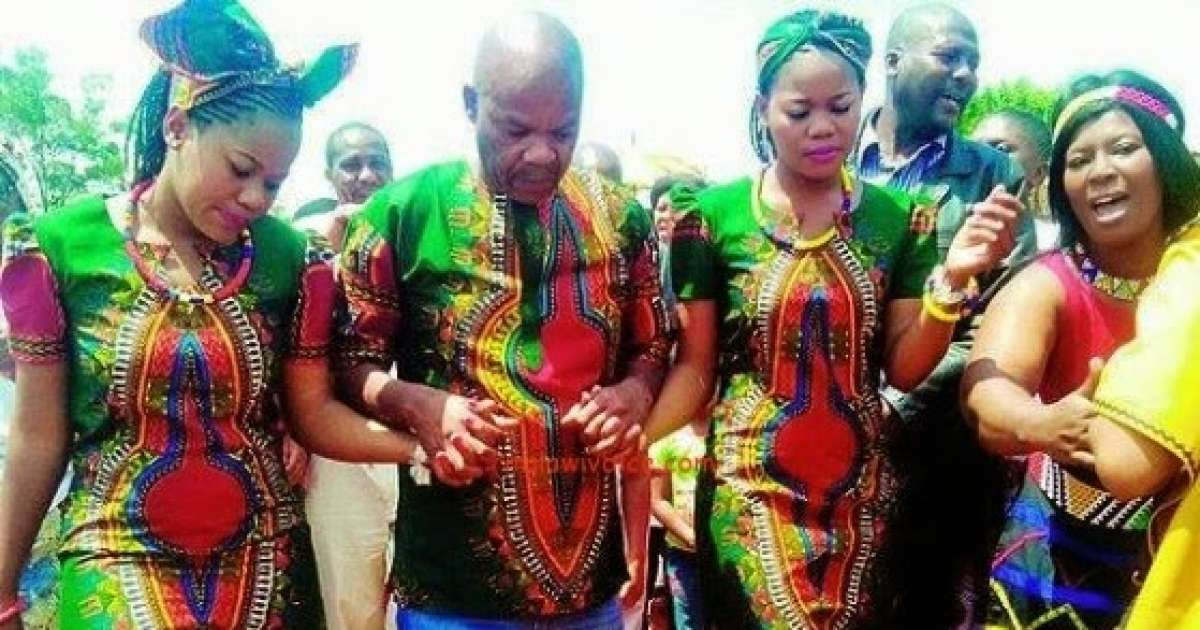Meet The Madala Married To 'HOT' Twin Sisters Half His Age