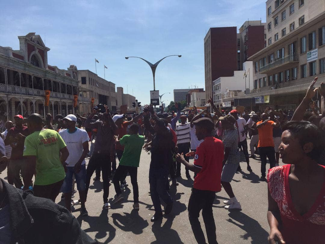 Protestors Take Over Control Of Bulawayo CBD