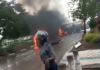 Cars Burnt Down As Protest Turns Ugly #ShutDownZimbabwe #ZimSituationUpdate