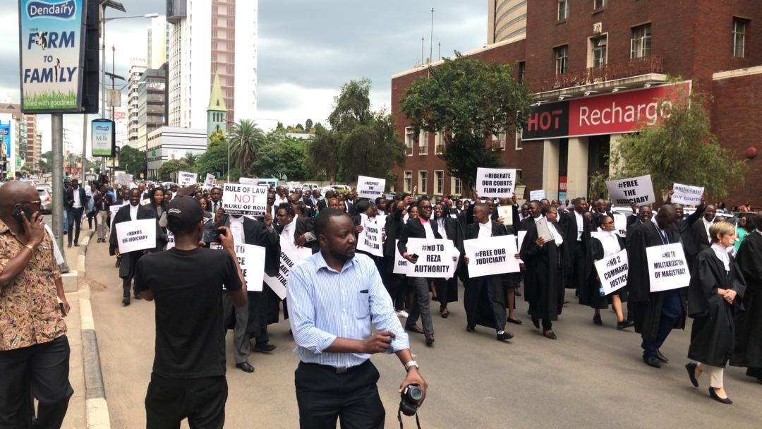 Lawyers March In Harare Today Against 'Miscarriage of Justice' At The Courts