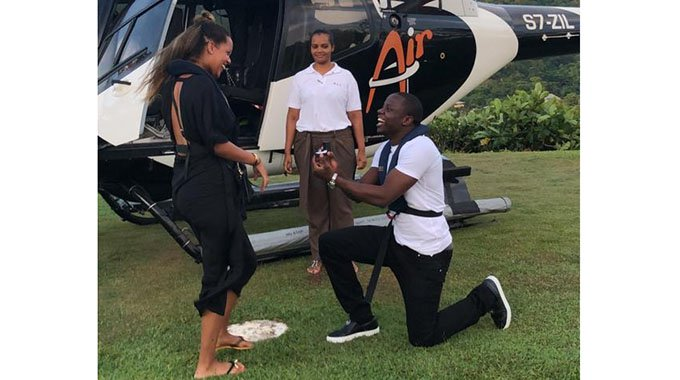 Mushekwi all smiles again as he engages his beauty from Sweden