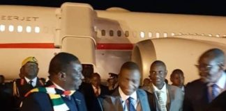 Mnangagwa Returns Home