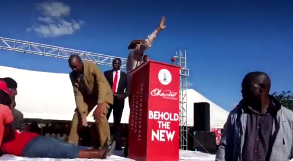 Chamisa's Sign Language Interpreter Faints On Stage