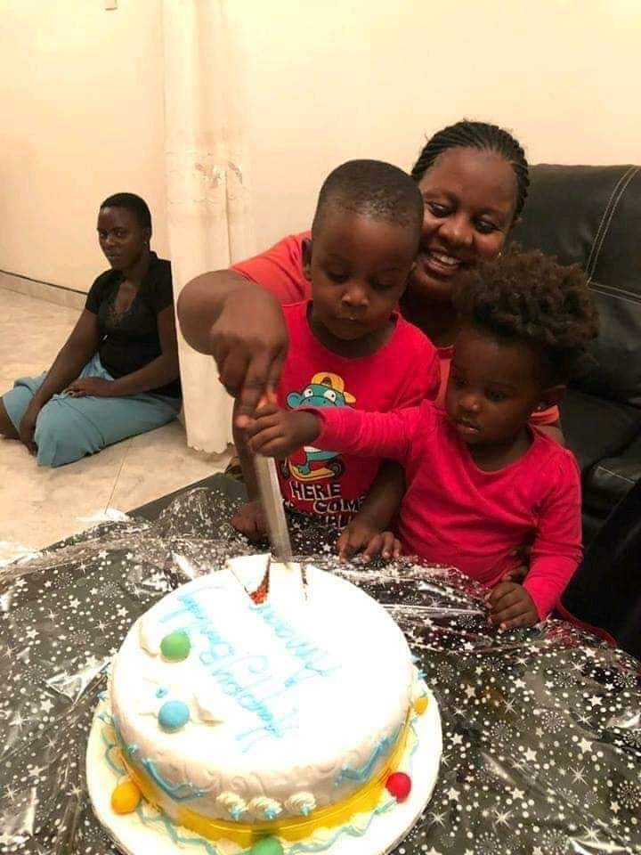 Picture of woman celebrating birthday with her kids as forlorn maid sits outside sparks outrage