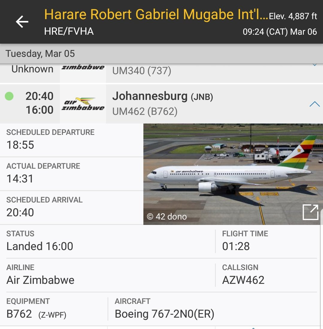 Air Zimbabwe Departs More Than 3 Hours Early From SA Leaving Passengers Stranded