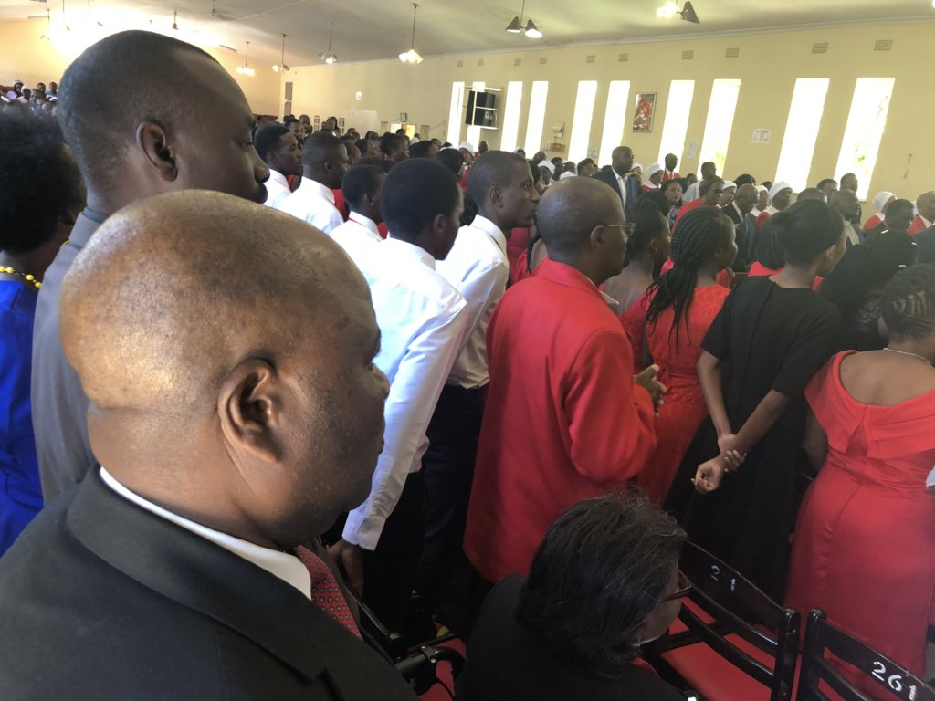 Mnangagwa Attends Church On 2nd Day Of National Mourning For Cyclone Idai Victims