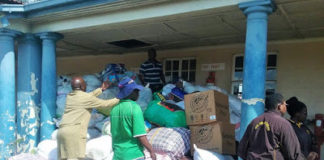 THREE SOLDIERS STEAL CYCLONE DONATIONS