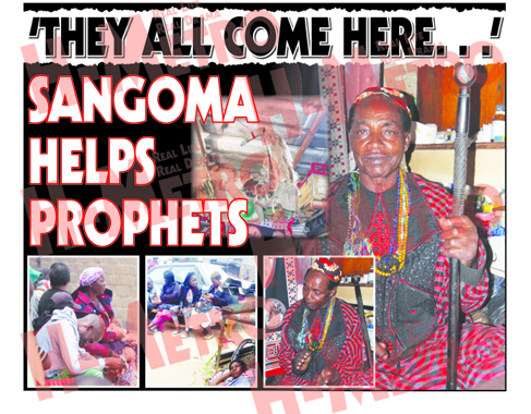 THEY ALL COME HERE: SANGOMA HELPS PROPHETS