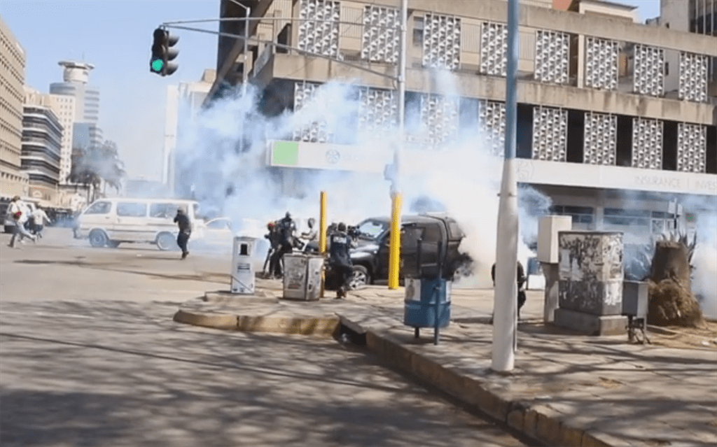 War Against Residents As Police Uses Tear Gas To Enforce Lock-Down