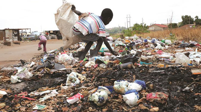 Uncollected waste in Harare's CBD