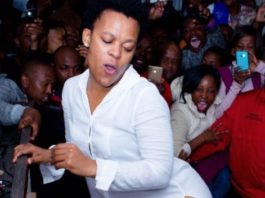 Zodwa Wabantu cleans her house Pant-less