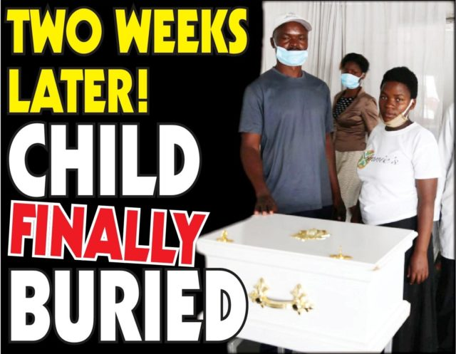 Two Weeks Later! Child finally buried