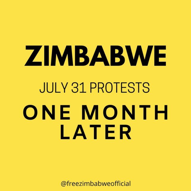 Zimbabwe 31 July Protests - +1 Month Later