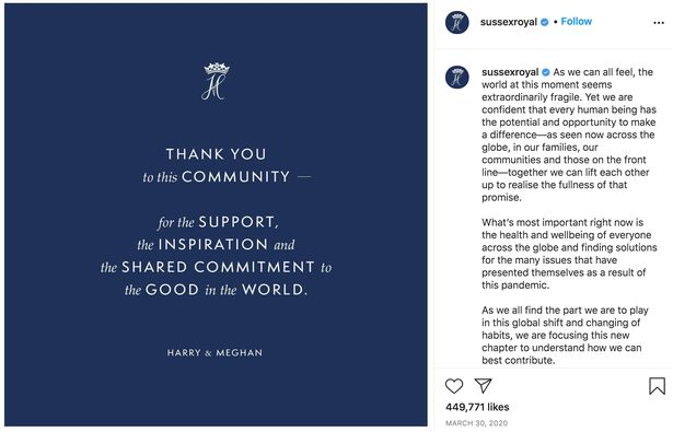 Prince Harry and Meghan 'quit social media'