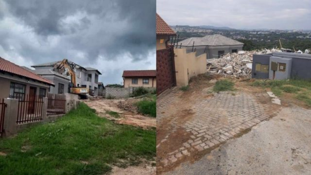 Man Demolishes Girlfriend's Newly Built House After She Cheated
