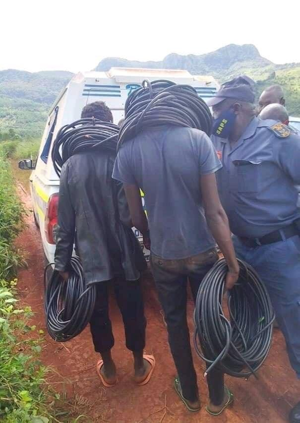 Boys 12 and 17-year-old Caught Red Handed Stealing Electric Cables In South Africa