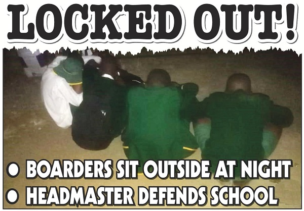 Headmaster locks pupil's out...students sleep in the cold!