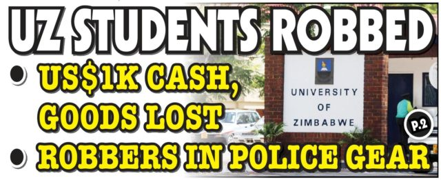 UZ Students robbed