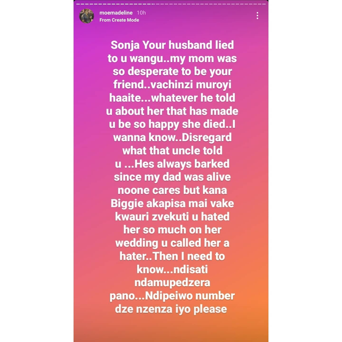 Chivhayo Family Drama - Sister Moe Exposes Wicknell's Chats!