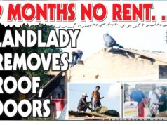 No Rent For Nine Months...Landlady Removes Doors, Roof